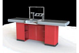 X5 pokladní box s posuvným pásem s jednoduchým skluzem, univerzální: levy - pravý (bez bočního stolku)