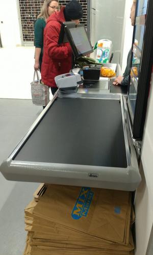 Pokladní box bez posuvného pásu