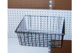 Wire baskets for racks